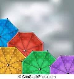 paraguas, fondo coloreado