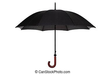 paraguas negro, aislado