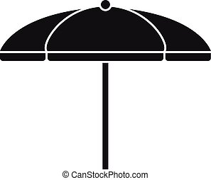 paraguas, simple, estilo, icono, textil, playa