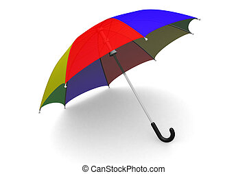 paraguas, suelo