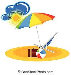 Paraiso de playa con dibujos animados