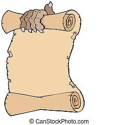 Parchment con garra