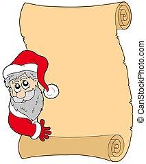 Parchment con Santa Claus al acecho