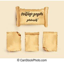 Parchment. Papel antiguo. Ilustración de vectores