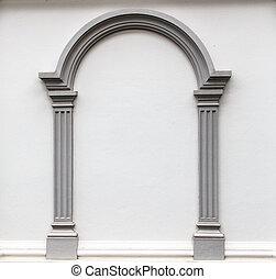 pared, arco, moldura
