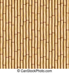 pared, bambú
