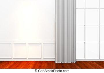 Pared blanca interior