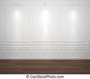 pared, blanco, spotslight, classis