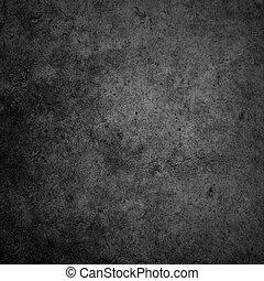 pared, concreto, fondo oscuro, negro
