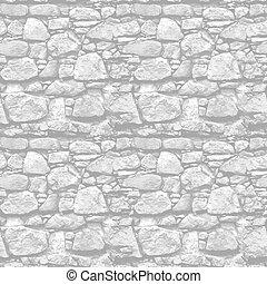 pared de piedra, -, seamless, realista, vector, plano de fondo