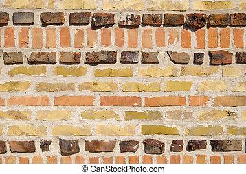pared, ladrillo, textura