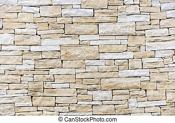 pared, ladrillos, hecho, arenisca