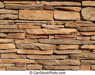 pared, piedra, acodado