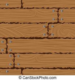 pared, plano de fondo, textura, de madera, seamless