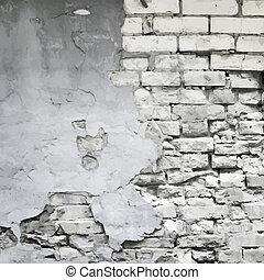 pared, vector, viejo, plano de fondo, arruinado