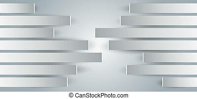 Paredes con paneles de metal a la vista