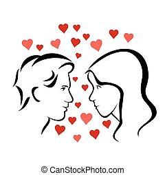pareja, amoroso