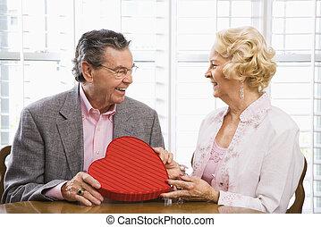 Pareja de belleza con Valentine.