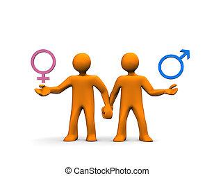 pareja, hetero