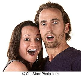 pareja, sorprendido