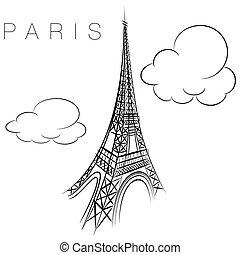 Paris eiffel torre icono