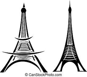 Paris eiffel torre vector art