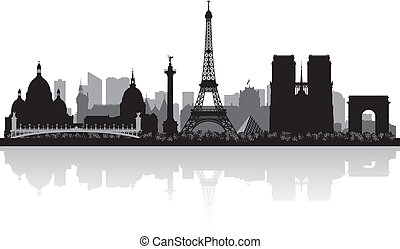Paris france City skyline silueta