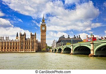 parlamento, big ben, londres, casas