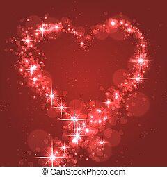 parpadeo, corazón, amor, forma
