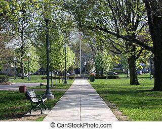 parque de la ciudad, camino