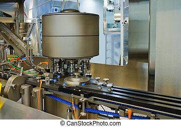 Parte de una máquina para la producción de medicamentos