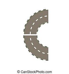 Parte del círculo gira icono, estilo de dibujos animados