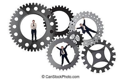Parte del concepto de esfuerzo de equipo