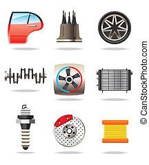Partes de autos y símbolos