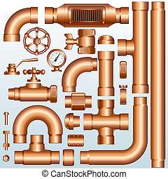 Partes de oleoducto Brass