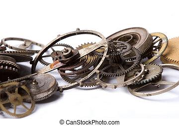 Partes viejas de reloj