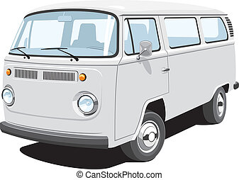 pasajero, furgoneta, carga