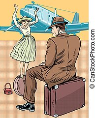 Pasajeros en el aeropuerto