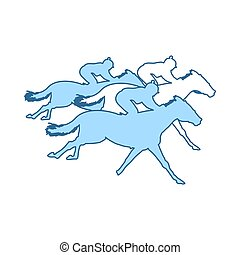 paseo, caballo, icono