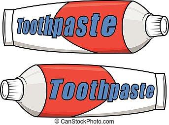 pasta dentífrica, caricatura