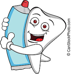 pasta dentífrica, diente