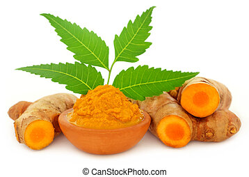 Pasta medicinal con hojas de neem