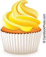 Pastel amarillo vector