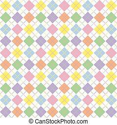 pastel, argyle, arco irirs, patrón
