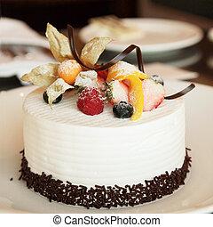 pastel, blanco, crema