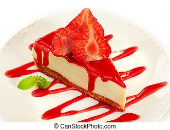 Pastel de queso de fresa