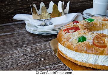 pastel, epifanía, español, día