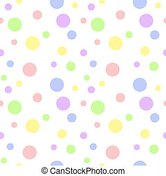 pastel, multi, polca, seamless, punto