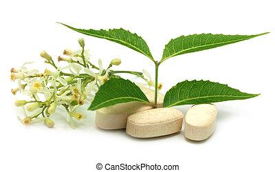 Pastillas con neem medicinal
