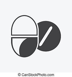 Pastillas de icono médico de salud